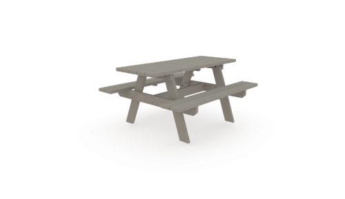 Table de pique-nique en plastique recyclé Plas Eco