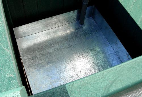 Réserve d'eau en acier galvanisé