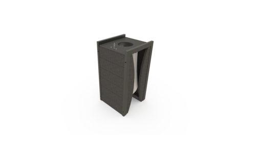Corbeille adaptée plan vigipirate avec porte sac 100 litres