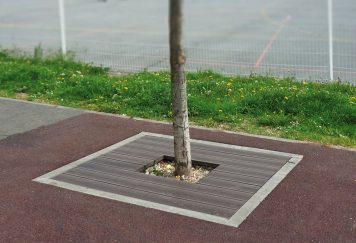 Mobilier de fleurissement urbain, entourage d'arbre en plastique recyclé Plas Eco