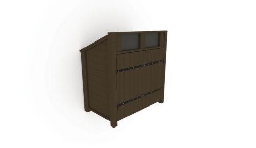 Abri conteneurs pour bac roulant 750L avec 2 ouvertures