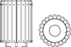 Vues techniques de la corbeille 204.B