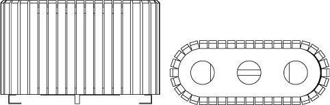 Visuel du point-tri 204.TRI avec 3 bacs de 60 L