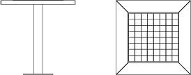 Vue de face et de profil de la table de jeu 300.TB