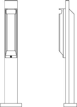 Vues isométriques de face et de profil du cendrier CEND1.PL