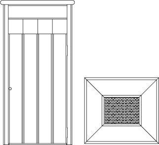 Vues ISO de la corbeille cendrier, face et dessus