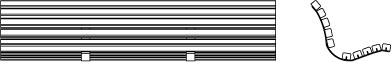 Vues techniques de face et de profil du kit de rénovation de banc KRB.G