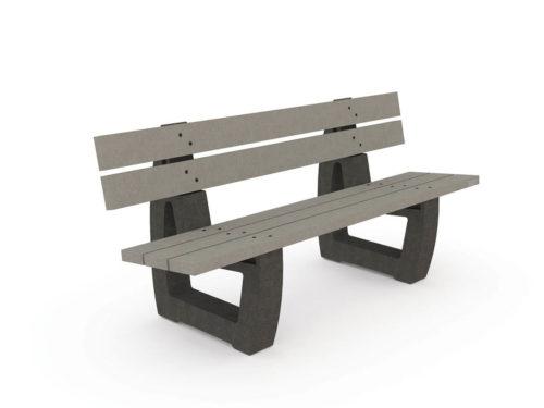 Aménager vos espaces urbains et péri-urbains avec ce banc au design classique et conçu avec un matériau 100% plastique recyclé