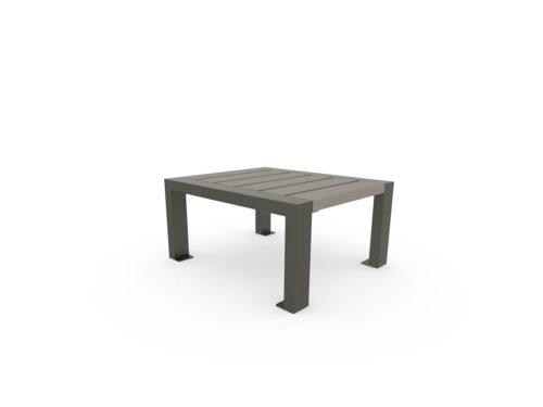 Table basse en plastique recyclé finition standard et structur