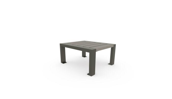 Table basse en plastique recyclé finition standard et structure en acier galvanisé