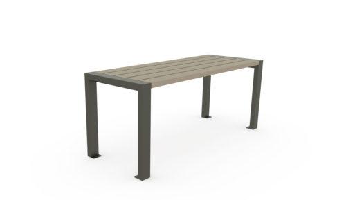 Table en plastique recyclé et acier galvanisé