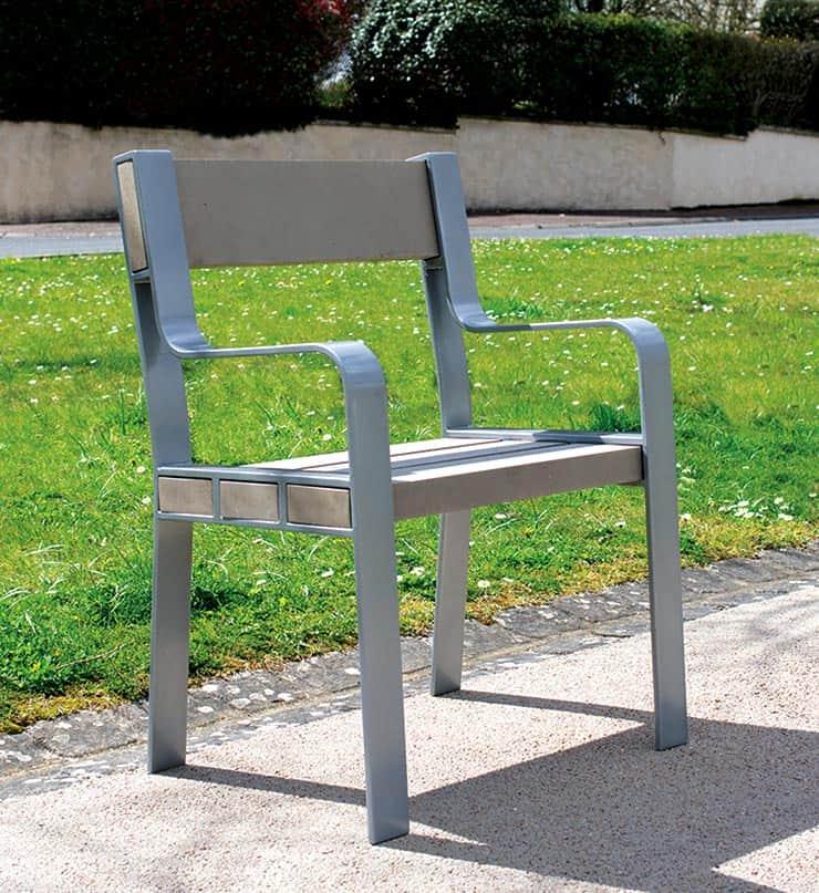 Fauteuil de la gamme Surface, mobiliers urbains Plas Eco finition Polytek