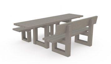 Table de pique-nique adaptée pour les personnes à mobilité réduite