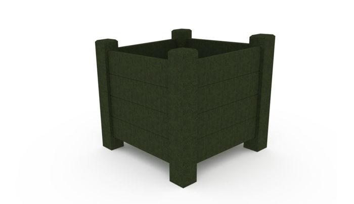 Jardinière carrée 740 mm, coloris vert