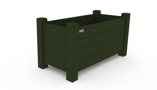 Jardinière d'embellissement, format rectangulaire, matière : plastique recyclé, gamme Origine