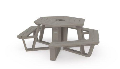 Table de pique-nique adaptée PMR pour un fauuteuil roulant