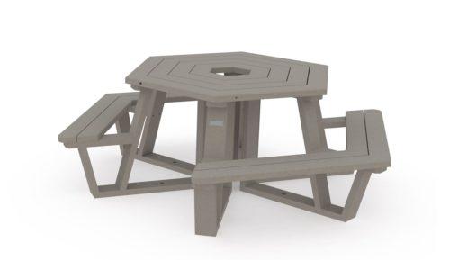 Ensemble de pique-nique adaptée pour deux fauteuils roulants - 100% plastique recyclé