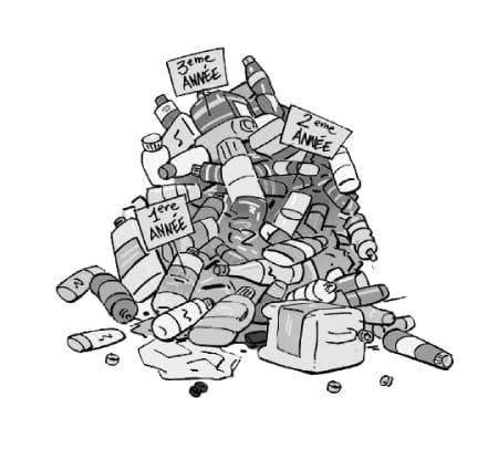 Au bout de 3 années de recyclage de matières plastiques