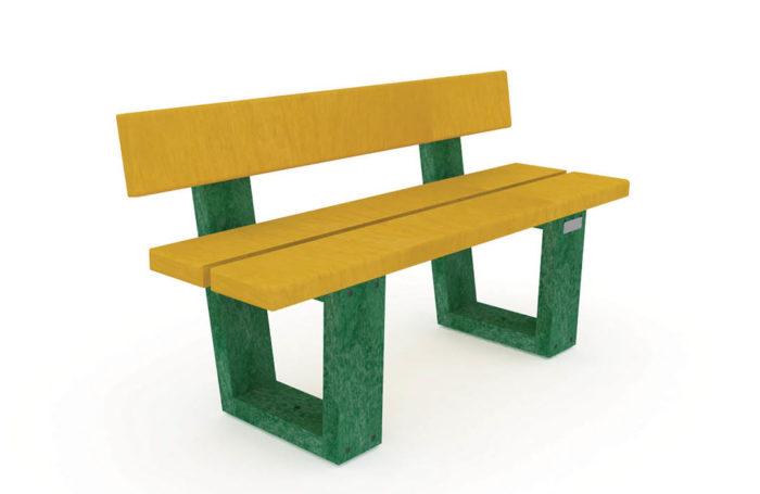 Banc Nuances pour les enfants, Assise jaune, pieds verts