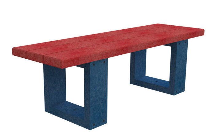 Banquette rouge et bleu - Nuances pour les bambins - 100% plastique recyclé