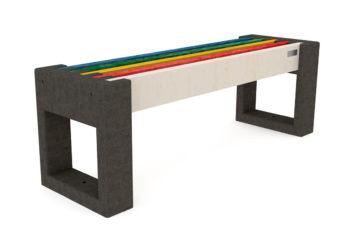 Banquette 100% plastique recyclé de la gamme Nuances, Profilés de toute les couleurs
