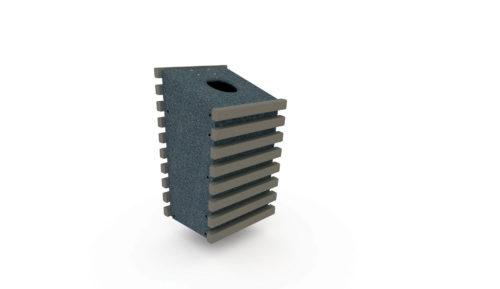 Corbeille 100% plastique recyclé - Coloris gris et gris anthracite