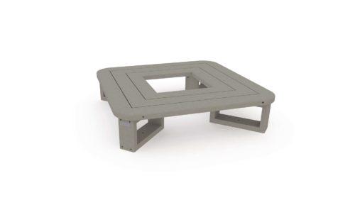 Tour d'arbre avec assise pour enfant - Hauteur 280 mm - Coloris gris - Finition standard - 100% plastique recyclé