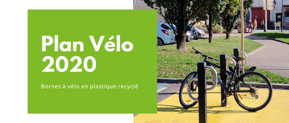 Plan vélo 2020 : bornes à vélo en plastique recyclé