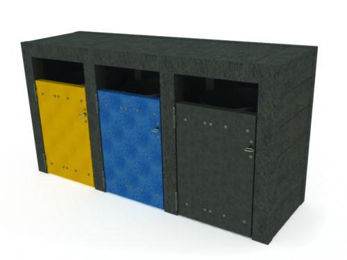 Point tri en plastique recyclé NU-TRI3-01